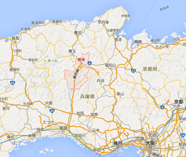 朝来市地図